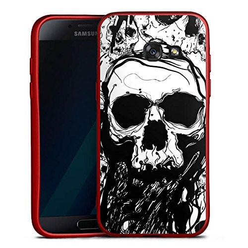 17 Silikon Hülle Rot Case Schutzhülle Totenkopf Skull Halloween (Wackelt Halloween 2017)