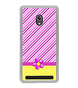 Fuson Stripes Checks Floral Designer Back Case Cover for Asus Zenfone 5 A501CG (Ethnic Pattern Patterns Floral Decorative Abstact Love Lovely Beauty)