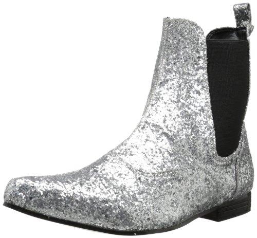 Herren Stiefeletten ohne Futter, Silber - Silberfarben, 44/45 EU (11.5 UK) (Glitter Happy Halloween)