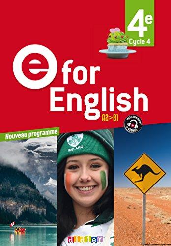 E for English 4e (d. 2017) - Livre