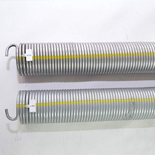 Preisvergleich Produktbild 2 Stück Torsionsfeder R702 + L702 / L21 R21 für Hörmann Garagentorfeder Torfeder.