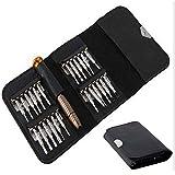 Laat 25in 1Präzisions-Schraubendreher-Set Portable Bag Mini Wallet Repair Tools Kits für iPad, iPhone, Tablets, Laptops, Smartphones, Uhren & #-; Gläser andere elektronische Geräte