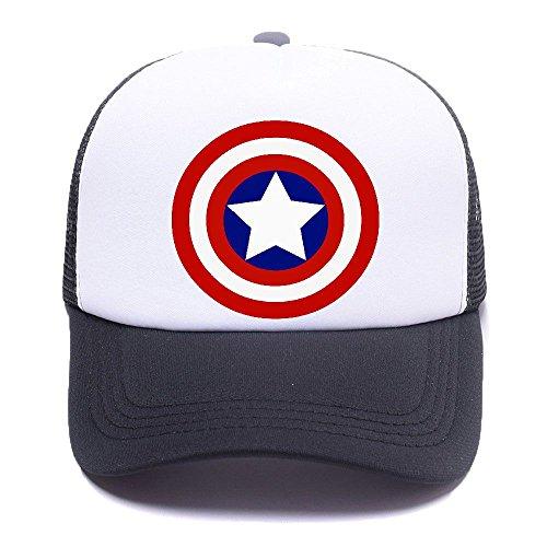 Capt America Logo 4H6QW3 Baseball Caps Trucker Hat Mesh Cap for Men Women Boy Girl