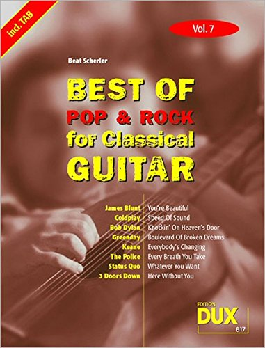 Best Of Pop & Rock for Classical Guitar 7