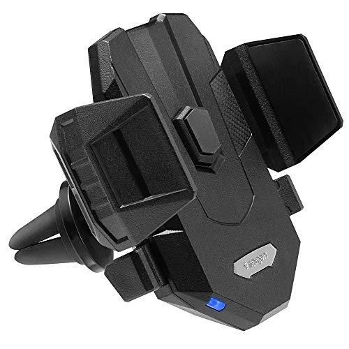 Spigen SteadiBoost Qi Universal Supporto per Ricarica Wireless Auto Veloce [One-Tap Tech] [Caricabatterie Auto Incluso] Caricatore Auto Wireless Quick per iPhone 11 / XS, Galaxy S10 / Note 10