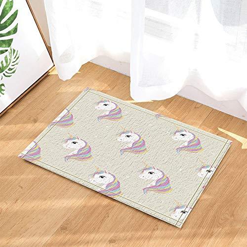 (cdhbh Unicorn Decor Baby Mädchen Einhorn mit Regenbogen Mähne in Star Bad Teppiche rutschhemmend Fußmatte Boden Eingänge Innen vorne Fußmatte Kinder Badematte 39,9x 59,9cm Badezimmer Zubehör)