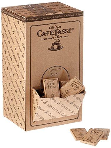 Café Tasse Weiße Schokolade mit Kaffee - Mini Schokoladentafeln (9g) in einer dekorativen Karton-Schütte, 1er Pack (1 x 1.5 kg)