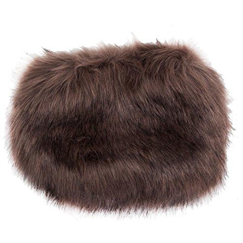 Toocool - Borsa donna borsetta tracolla handbag pelo pelliccia ecologica nuova PO-15 Fango