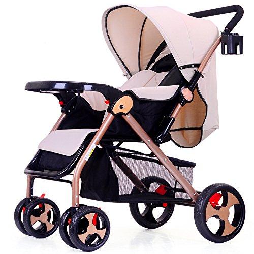 Sillas De Paseo Ligero Carritos De Bebe Plegable Carro Bebe De Viaje Por Cochecito De Bebé De 0-36 Meses Niños Deportivo Fold Capacidad Plegable Max 15 Kg,Brown