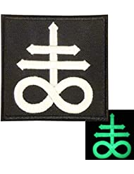 Leviathan Cross Crux Satanus Satan Demon Symbol Morale Embroidered Fastener Patch