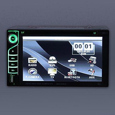 KKMOON 6.2 pouces Double Din voiture DVD universel/ USB /