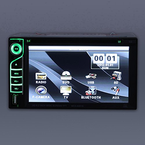 Erfordert Hd-dvd-player (KKMOON Schöne UI Design 6,2 Zoll Universal Doppel Din Car DVD/USB/SD-Player HD Multimedia Bluetooth Radio-Entertainment)