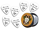 Music Is What Love Sounds Like Anniversary 6 X Logo Guitare Mediators Picks in Tin (GD)