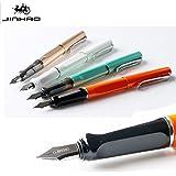 Nuevo Jinhao 599A bolígrafos lujo plata Trim escritura suave 0.5mm Plumín de punta mediana de acero inoxidable), y estudiantes de caligrafía oficina)