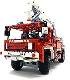 Modbrix Technik Bausteine Feuerwehrauto Leiterwagen,1036 Bauteile