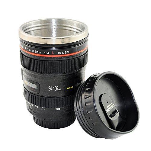 Tazza thermos tipo obiettivo Canon 24105Tazza Vaso a matita Fotocamera–adaptout marca francese