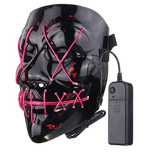 leenBonnie Divertente LED Light Up Flash Mask Halloween Party Night Club Festival Uomini Donne Costume Cosplay LED novità Maschera Maschera DJ