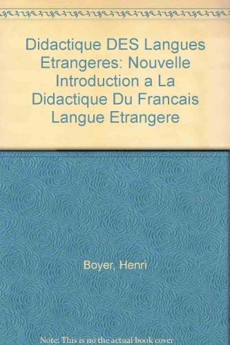 Introduction à la didactique du français langue étrangère