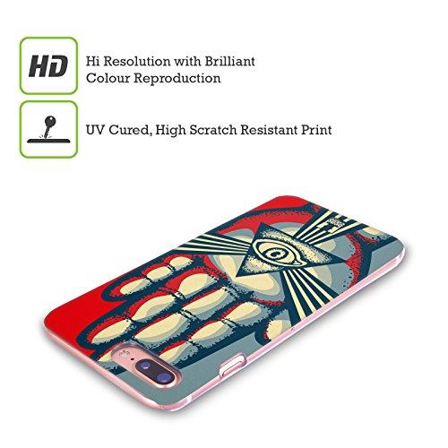 Head Case Designs Nebulosa Locchio Della Divina Provvidenza Cover Retro Rigida per Apple iPhone X Mano