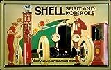 Blechschild Shell Motor Oil Oldtimer Tankstelle Schild Nostalgieschild