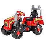 Kindertraktor 95cm Trettraktor Tretauto Tretfahrzeug Fahrzeug Spielzeug Kinder (rot)
