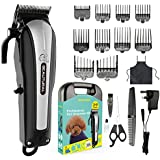Beautural ProfessionalCordless Pet Grooming Clipper Kit, Low Noise Rechargeable Dog And Cat Hair Trimmer With...