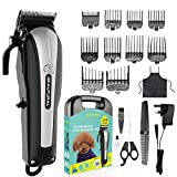 Best Dog Grooming Clippers - BEAUTURAL Professional Cordless Pet Grooming Clipper Kit, Low Noise Review