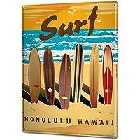 Cartel Letrero de Chapa XXL Diversión Tablas de surf playa de surf de Hawaii