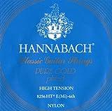 Hannabach Cordes Guitare classique Série 825 Tension forte Special Gold E6w corde unique
