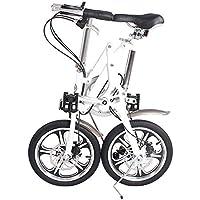 ZHAORLL Aleación De Aluminio De 16 Pulgadas Plegable Bicicleta Mini Adulto De Desplazamiento De Segundos Hombres
