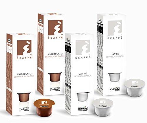 40 Ècaffè Caffitaly Kapseln Kombipaket: 20 Kakaokapseln CIOCCOLATO + 20 Milchkapseln LATTE