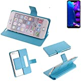 K-S-Trade Flipcover für Allview Soul X5 Pro Schutz Hülle Schutzhülle Flip Cover Handy case Smartphone Handyhülle blau