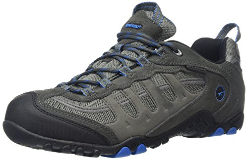 Hi-Tec Men Penrith Waterproof Low Rise Hiking Boots, Grey (Charcoal/Blue), 11 UK...