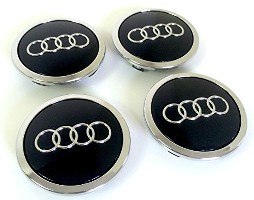 Set Of Four Alloy Wheels Centre Hub Caps Black Covers Badge 69 mm 8t0 601 170
