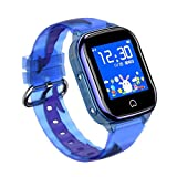 Children Phone Watch 1.44 Inch Translucent Touch Screen Depth Waterproof GPS Compatible Phone Camera Watch with Flashlight Two-Way Call For Student Kid