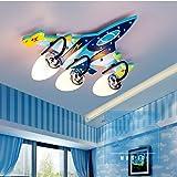 Ali Kinderzimmer Deckenlampe Jungen Kreative Flugzeug Lichter Schlafzimmer LED Augenschutz Mädchen Karikatur Raum Lichter / E14 * 3/4 ( größe : 47*40*15CM )
