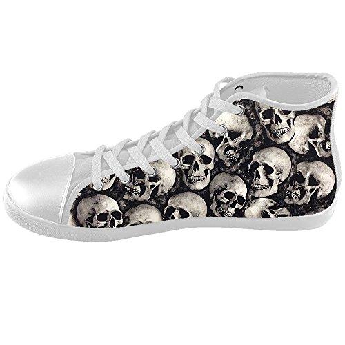 Custom skull Kids Canvas shoes Schuhe Footwear Sneakers shoes Schuhe (Kids Schuhe Skull)