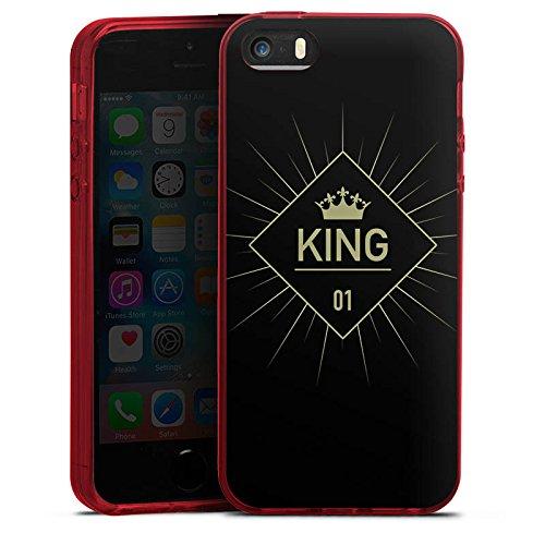 Apple iPhone 5s Silikon Hülle Case Schutzhülle King Koenig Krone