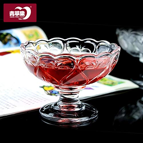 Kostüm Paare Niedlich - Luxury glass Sommer Romantische Bleifreies Glas Eisbecher Pudding Jelly Cup Zwei Mini Cups Für Paare, Mini Niedlich 2 Kostüme