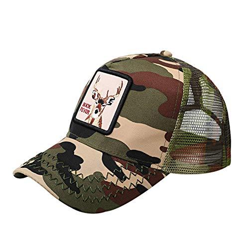 Preisvergleich Produktbild sdssup Elch Hut Wild Hip Hop Street hochwertige Baseball Cap Cap Baseball Cap Elch - Camouflage einstellbar