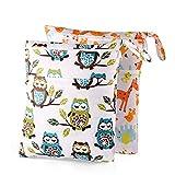 Yiqiane Yiqiane Aufbewahrungsbeutel 2Pcs Windel Tasche wasserdicht Baby Wiederverwendbare Reißverschluss Nasstaschen Organiser Beutel für Zuhause