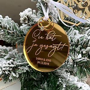 Weihnachtskugel Erstes Weihnachten als Mann & Frau