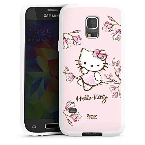 DeinDesign Samsung Galaxy S5 mini Silikon Hülle Case Schutzhülle Hello Kitty Merchandise Fanartikel Magnolia