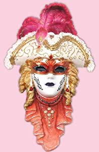 Masque de carnaval decorative Napoleon, resine, 33 cm