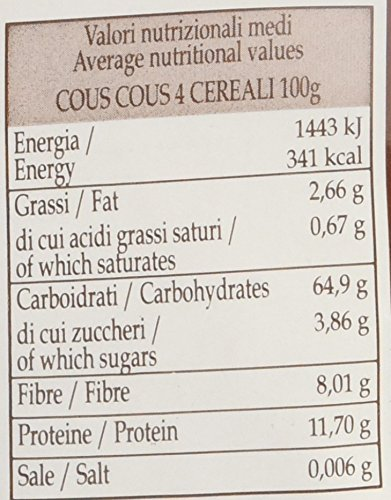 Sottolestelle Cous Cous 4 Cereali - 6 pezzi da 500 g [3 kg] 3 spesavip