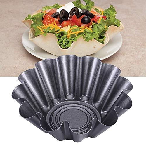 Antihaftend Geriffelt Tortilla Shell Pfannen, Taco Salatschüssel Maker Form - Karbonstahl Hitzebeständig - Wie Abgebildet Show, 4 Teile (Taco Shell-maker)