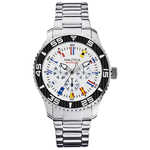 Nautica-Mens-Quartz-Watch-with-Black-Dial-Analogue-Display-Quartz-Stainless-Steel-A14630G