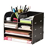Best Office Supplies - Office Multi-Functional Desk Organiser Storage Rack Wooden Stationary Review