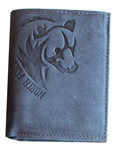 portafoglio da uomo small NORTH POLE NPW203 in vera pelle (blue)