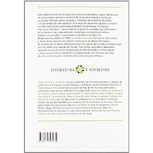 Escritura dramática, La                                                         . (LITERATURA Y SOCIEDAD. L/S.)